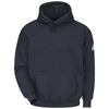 workwear sweatshirts: Bulwark - Men's Pullover Hooded Modacrylic Fleece Sweatshirt