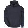 workwear sweatshirts: Bulwark - Men's Pullover Hooded Modacrylic Fleece Sweatshirt