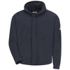 workwear sweatshirts: Bulwark - Men's Zip-Front Hooded Modacrylic Fleece Sweatshirt