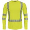 flame resistant: Bulwark - Men's Power Dry® FR Hi-Vis Flame-Resistant T-Shirt