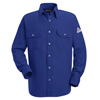 flame resistant: Bulwark - Men's Snap-Front Nomex® IIIA Uniform Shirt - 4.5 oz.