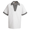 Chef Designs Men's Snappy V-Neck Chef Shirt UNFSP06WH-SS-L