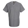 Chef Designs Men's Checked V-Neck Chef Shirt UNFSP08WB-SS-L