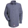 workwear shirts long sleeve: Red Kap - Men's Micro-Check Uniform Shirt