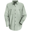 Red Kap Mens Industrial Stripe Work Shirt UNF SP10GK-RG-L