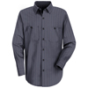 Red Kap Mens Industrial Stripe Work Shirt UNF SP10IC-LN-L