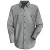 workwear shirts long sleeve: Red Kap - Men's Industrial Stripe Work Shirt
