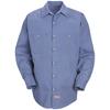 Red Kap Mens Geometric Micro-Check Work Shirt UNF SP14DN-LN-XXL