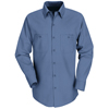Red Kap Mens Industrial Work Shirt UNF SP14PB-RG-L