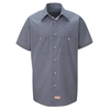 Red Kap Mens Micro-Check Uniform Shirt UNF SP20EX-SS-XL