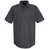 mens shirts: Red Kap - Men's Industrial Stripe Work Shirt