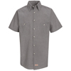 Red Kap Mens Micro-Check Uniform Shirt UNF SP20KB-SSL-L