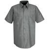 Red Kap Mens Industrial Stripe Work Shirt UNF SP24CR-SS-L
