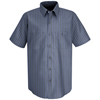 workwear mens shirts: Red Kap - Men's Industrial Stripe Work Shirt