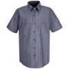 Red Kap Mens Industrial Stripe Work Shirt UNF SP24KN-SS-XXL