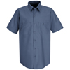 Red Kap Mens Industrial Work Shirt UNF SP24PB-SS-L