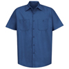 Red Kap Mens Industrial Work Shirt UNF SP24RB-SS-L