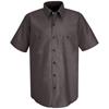 Red Kap Mens Durastripe® Work Shirt UNF SP24RC-SS-XXL