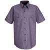 workwear small: Red Kap - Men's Industrial Stripe Work Shirt