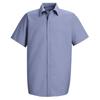 Red Kap Mens Specialized Pocketless Work Shirt UNF SP26LB-SS-S