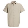 Red Kap Mens Specialized Pocketless Work Shirt UNF SP26LT-SS-M