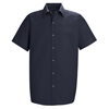 Red Kap Mens Specialized Pocketless Work Shirt UNF SP26NV-SS-XL