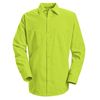 workwear shirts long sleeve: Red Kap - Men's Enhanced Visibility Work Shirt