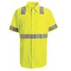 workwear coverall: Red Kap - Men's Hi-Vis Work Shirt - Class 2 Level 2
