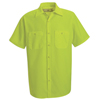 mens shirts: Red Kap - Men's Enhanced Visibility Work Shirt