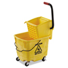 Unisan Pro-Pac™ Side-Squeeze Wringer/Bucket Combo UNS 2635COMBO YEL