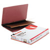Clean and Green: Universal® Red Pressboard End Tab Classification Folders