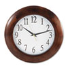 """Cube Filters Two Ply Cube Filters: Universal® 12-3/4"""" Round Wood Clock"""