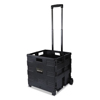 Janitorial Carts, Trucks, and Utility Carts: Universal® Collapsible Mobile Storage Crate