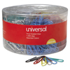 paper clips: Universal® Vinyl-Coated Paper Clips
