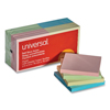 sticky notes: Universal® Standard Self-Stick Pastel Color Note Pads