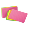 Universal Universal® Ruled Neon Glow Index Cards UNV 47217