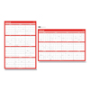 Universal Erasable Wall Calendar, 24 x 36, White/Red, 2021 UNV 71004