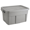 mailing boxes and shipping cartons or file storage boxes: Roughneck Storage Box, 14 gal, Steel Gray