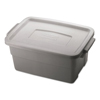 mailing boxes and shipping cartons or file storage boxes: Roughneck Storage Box, 10 3/8 x 15 7/8 x 7, 3 Gallon, Steel Gray