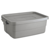 Rubbermaid Roughneck Storage Box, 10 gal, Steel Gray UNX 2214STE