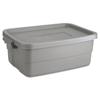 Roughneck Storage Box, 10 gal, Steel Gray UNX 2214TPSTE
