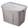 mailing boxes and shipping cartons or file storage boxes: Roughneck Storage Box, 18 gal, Steel Gray