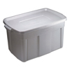 mailing boxes and shipping cartons or file storage boxes: Roughneck Storage Box, 31 gal, Steel Gray, 9/Carton