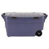 Rubbermaid Roughneck Wheeled Storage Box, 45gal, Dark Indigo Metallic UNX 2463DIM