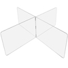 USA Sealing Clear Plastic Compartment Divider - 1/4 T x 36 H - For 48 Diameter Table - 4 Person USA BULK-CPD-266