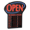 U.S. Stamp & Sign Newon® LED Open Sign with Business Hours USS 6093