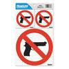 U.S. Stamp & Sign Headline® Sign No Guns Self-Stick Sign USS 6096