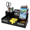 Victor Victor® Midnight Black Desk Organizer with Smartphone Holder VCT 95255