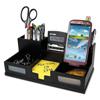 office ergonomic: Victor® Midnight Black Desk Organizer with Smartphone Holder