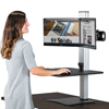 computer workstations: Victor® DC450 High Rise™ Collection Electric Dual Monitor Standing Desk Workstation